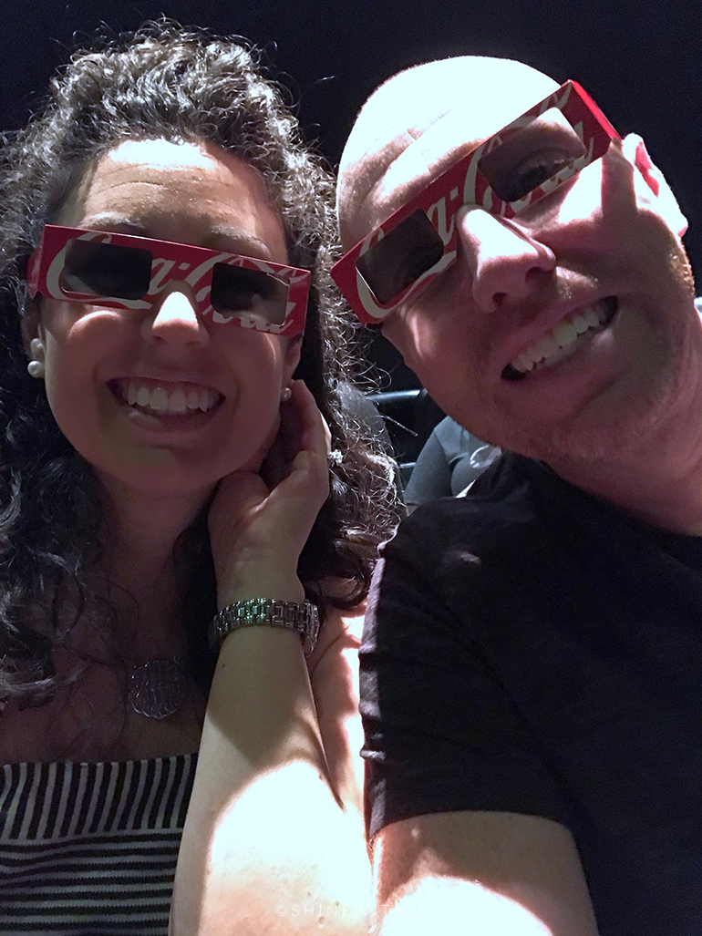 4D glasses and movie at coca cola museum atlanta