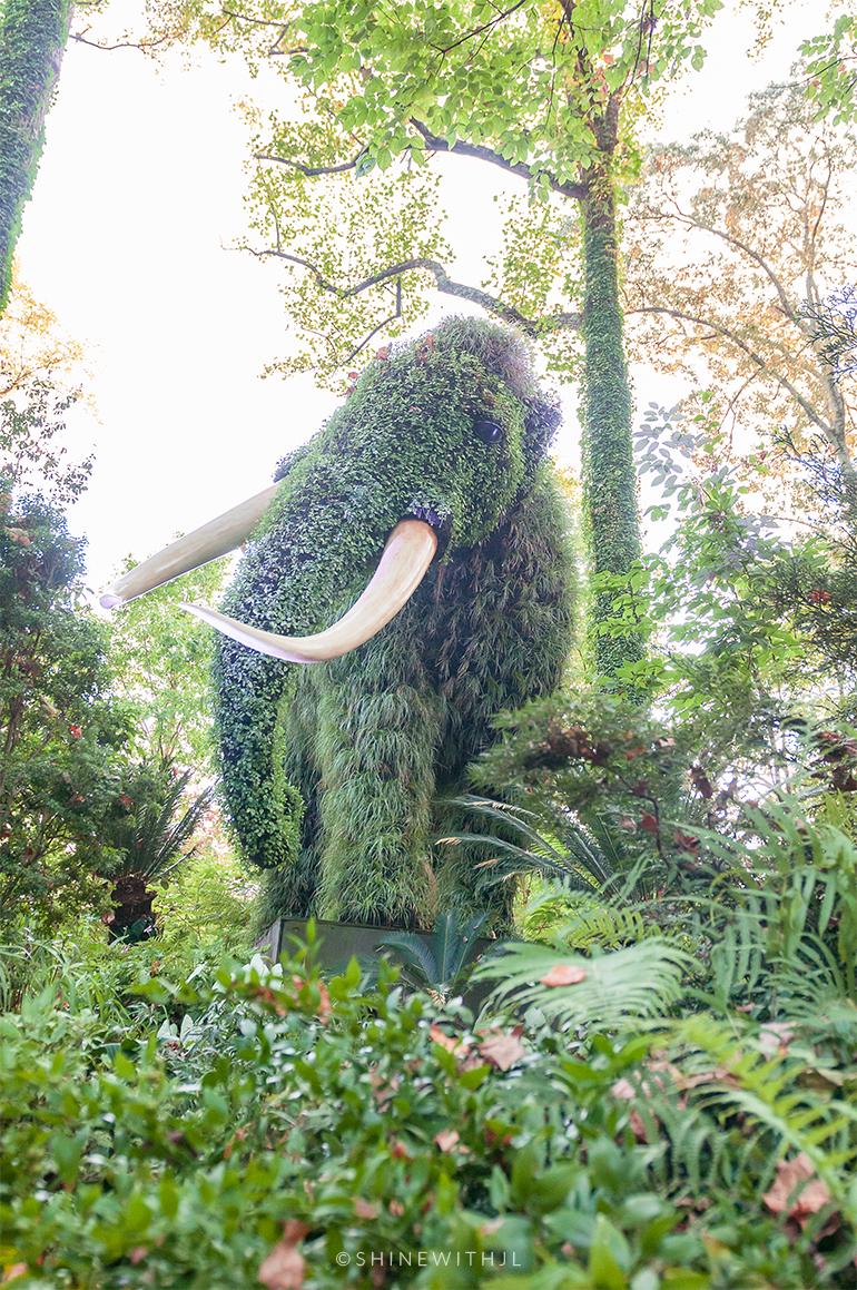 mammoth sculpture mosaiculture atlanta botanical gardens
