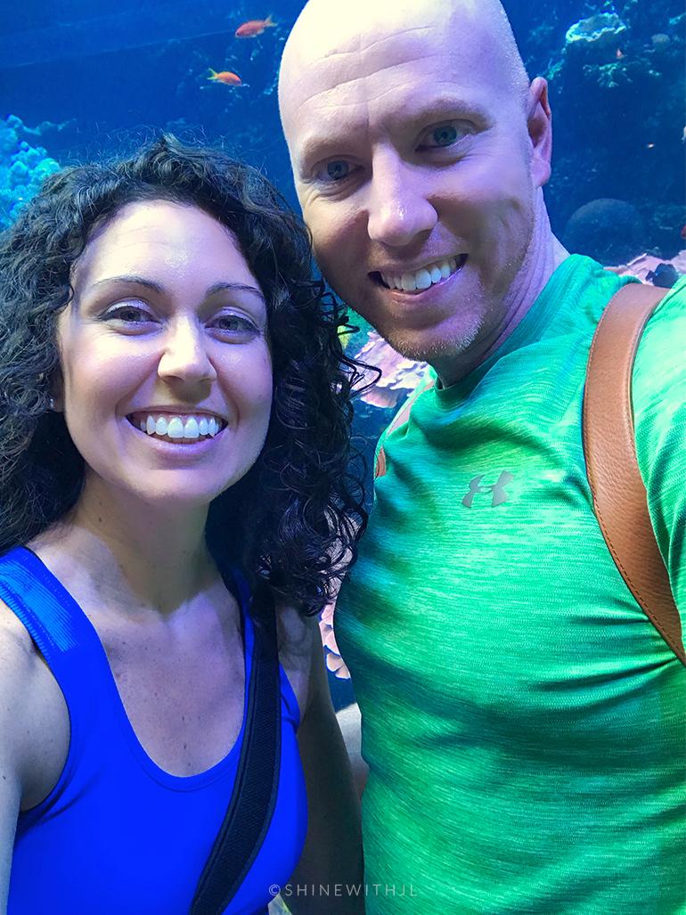 couple visiting georgia aquarium