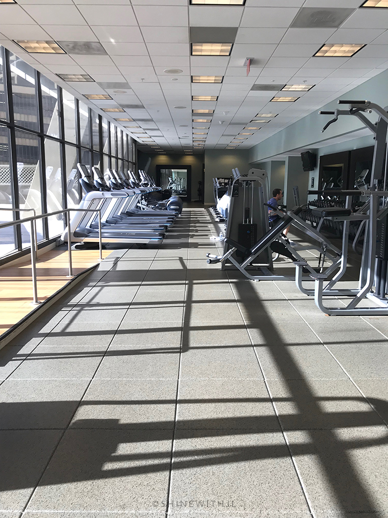 inside gym at hilton atlanta