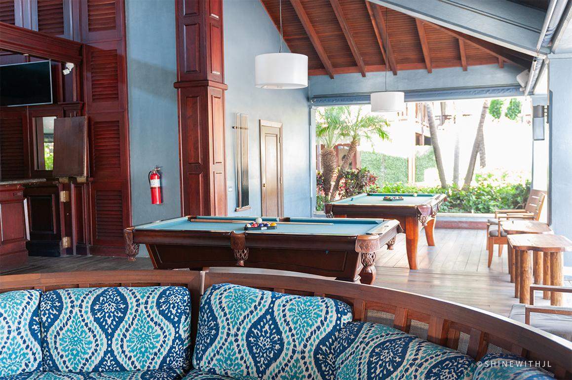 billiard tables at sandals grenada resort
