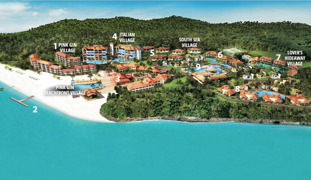 Sandals Grenada Resort and Spa Property Map