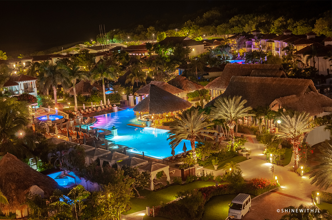 sandals grenada resort at night professional photography by shinewithjl