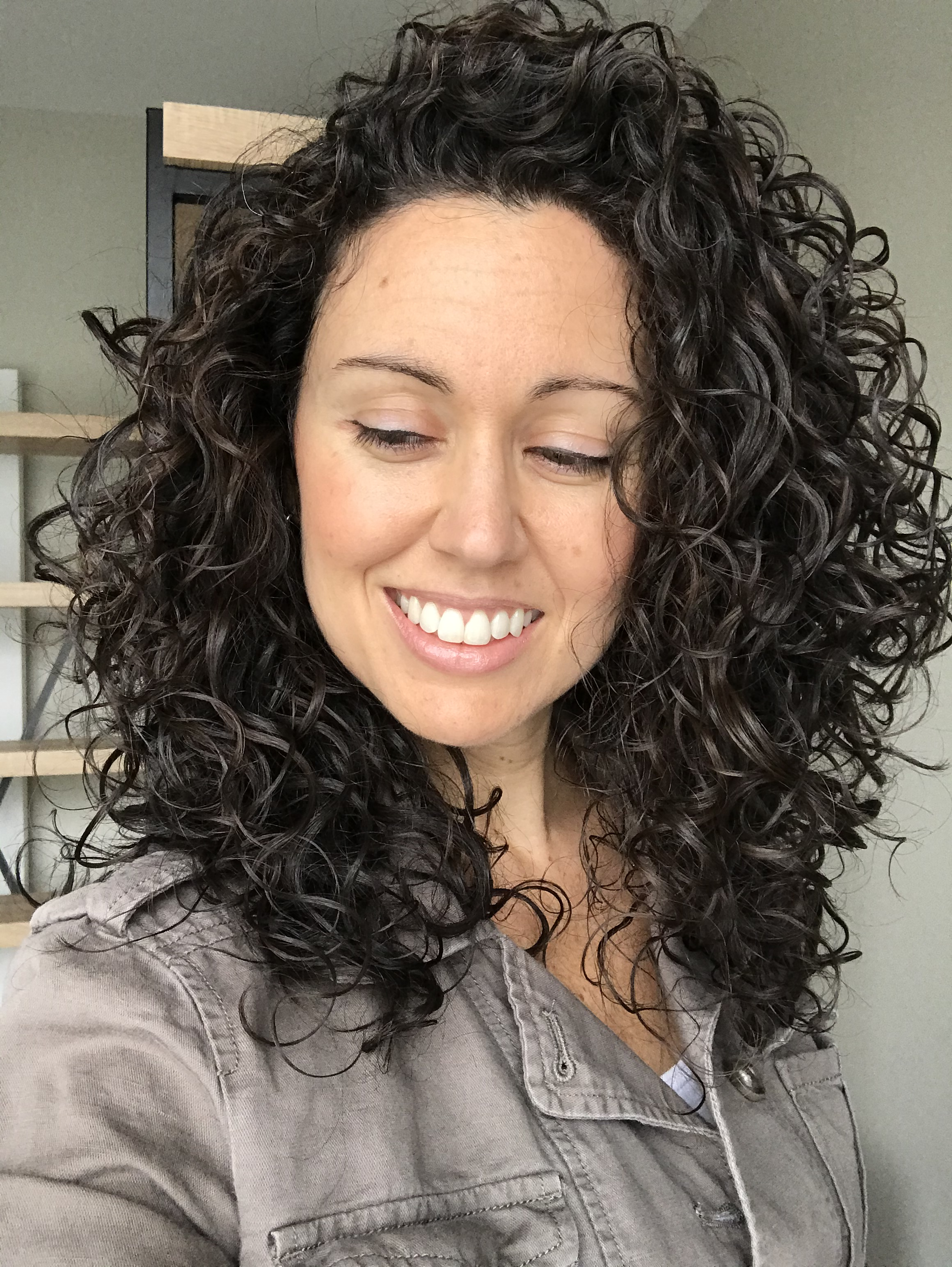 curly hair wash day results after deva curl cut