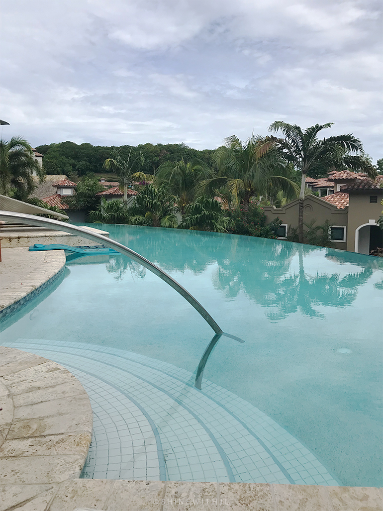 infinity pool outside south seas rooms at sandals grenada