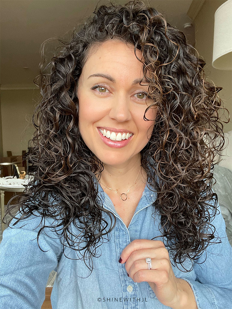 curls after shampoo for hard water shinewithjl