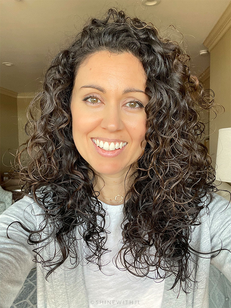 curly hair before shampoo for hard water shinewithjl
