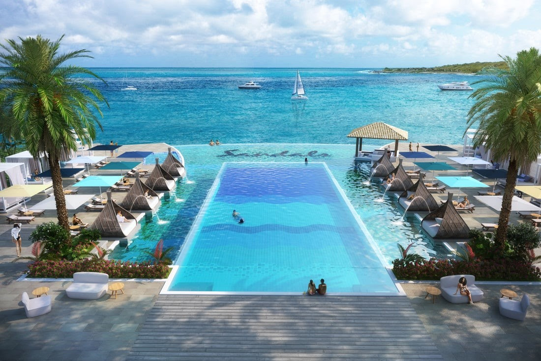 upper and lower deck infinity pool sandals curacao