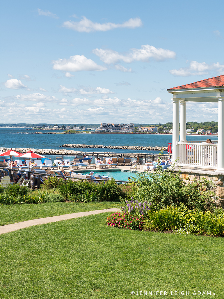 colony hotel pool with a view kennebunkport maine