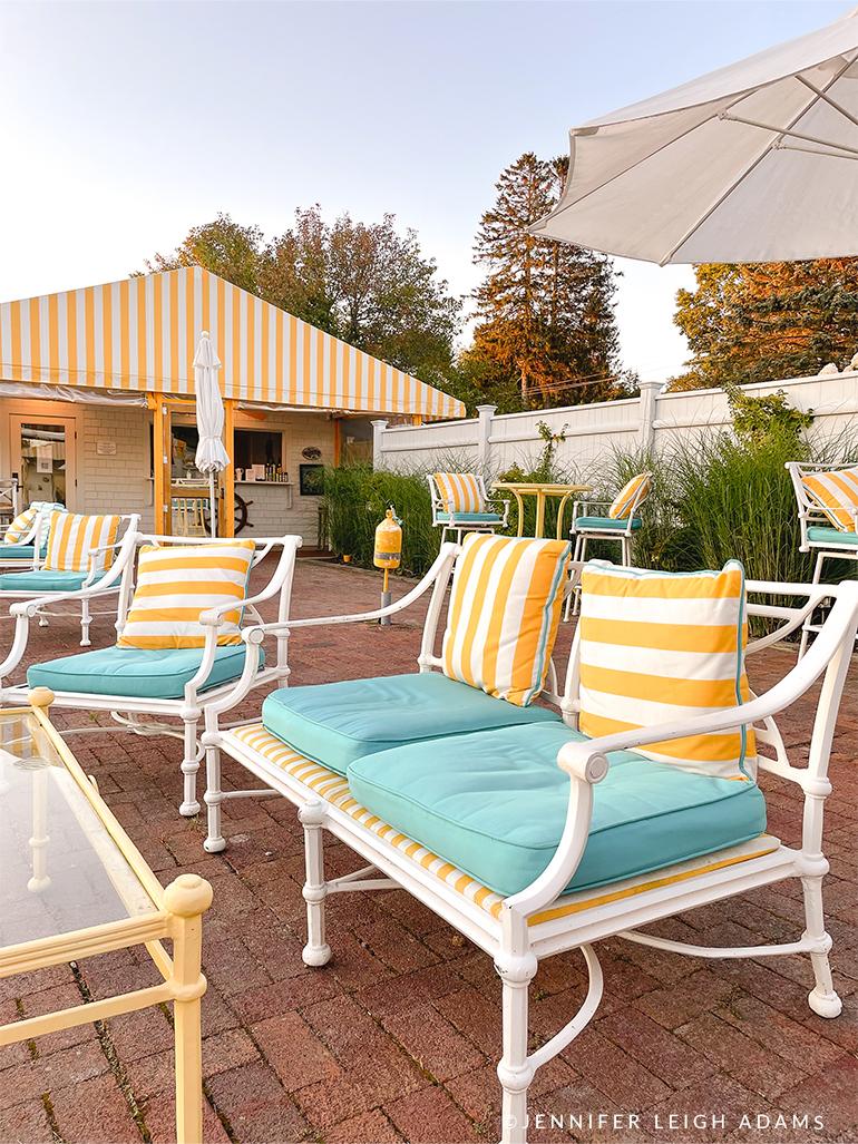 cabana chairs yachtsman hotel and marina outdoor bar