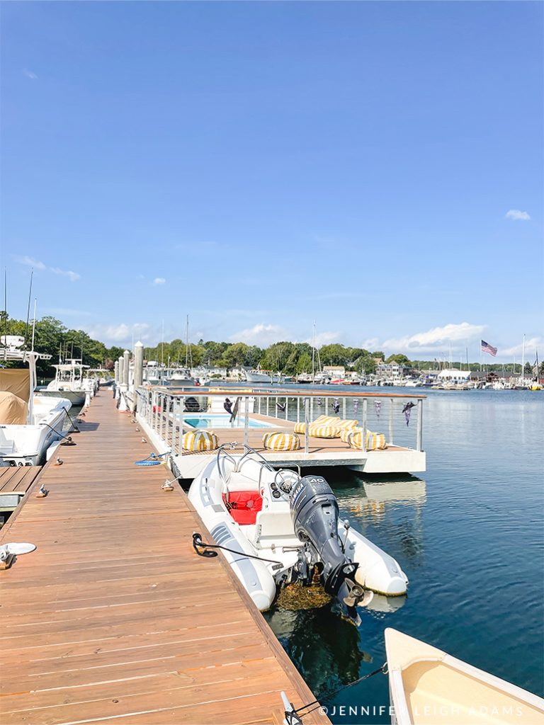 floating barge pool yachtsman hotel and marina kennebunkport maine